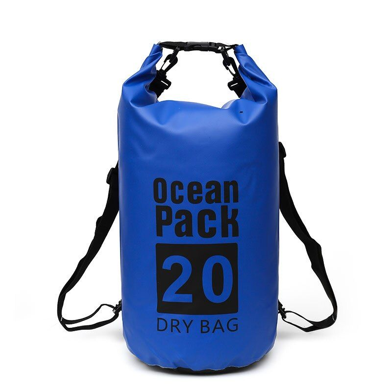 20L Waterproof Outdoor Mountaineering Swimming Bag Ultra Light Compression Waterproof Adjustable Shoulder Strap Hook Multicolor