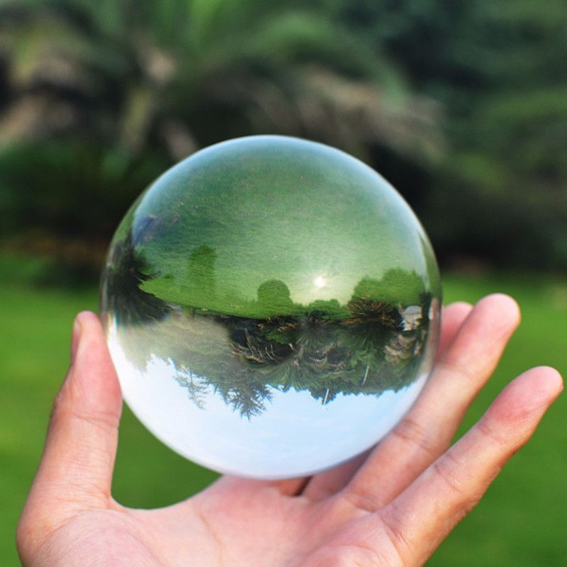 JQJ Crystal Ball Stone Paperweight 50mm Feng shui <font><b>Magic</b></font> Sphere Decorative Glass Marbles Photography For Sale Home Decor Globe