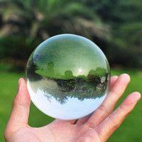 JQJ bola de cristal pisapapeles 50mm Feng shui esfera mágica vidrio decorativo canicas fotografía para la venta decoración del hogar globo