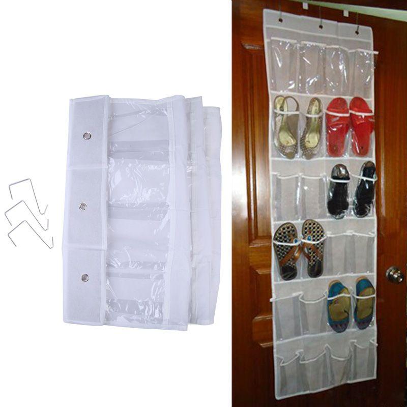 Practival 24 Pocket Door Hanging Shoe Rack Holder Organiser Storage Wall Bag For Shoes Storage Holder
