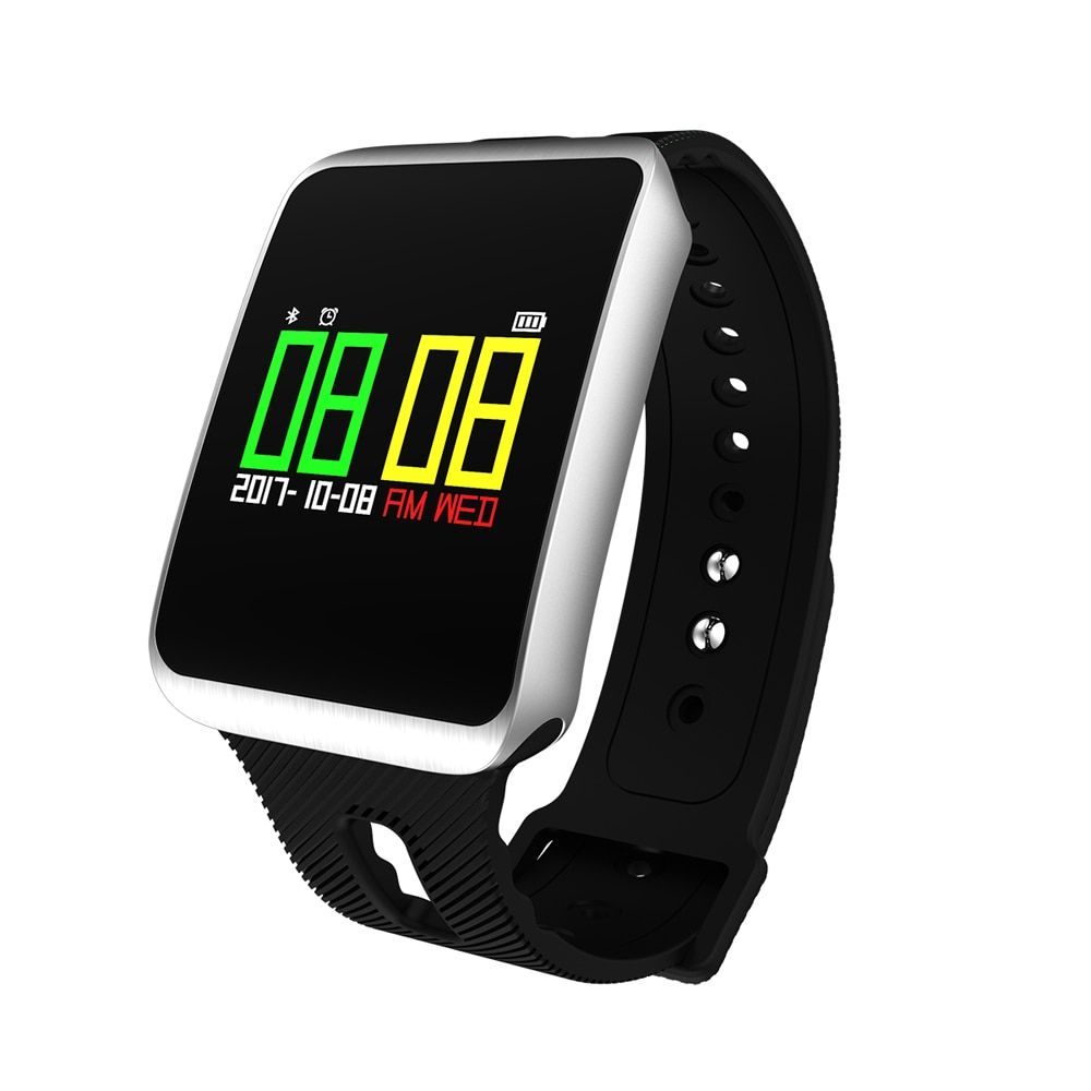 Waterproof TF1 Bluetooth 4.0 Heart Rate Blood Pressure Blood Oxygen Sleep Monitor Sedentary Reminder Smart Watch For IOS Android