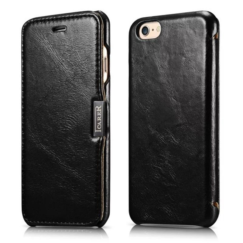 For iPhone 6 Plus iPhone Case Vintage Genuine Leather For Apple iphone 6 case cell phone case covers for iPhone6 4.7 inch Black