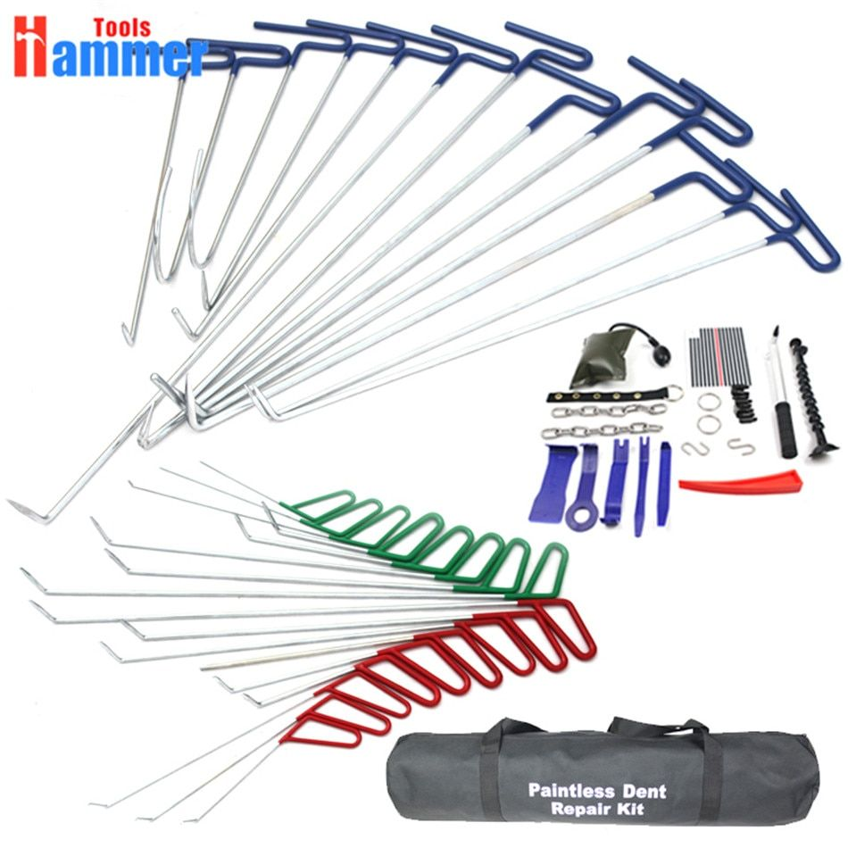 PDR Tool Hook Rods Paintless Dent Repair Auto Tools Set PDR HOOK reflector board