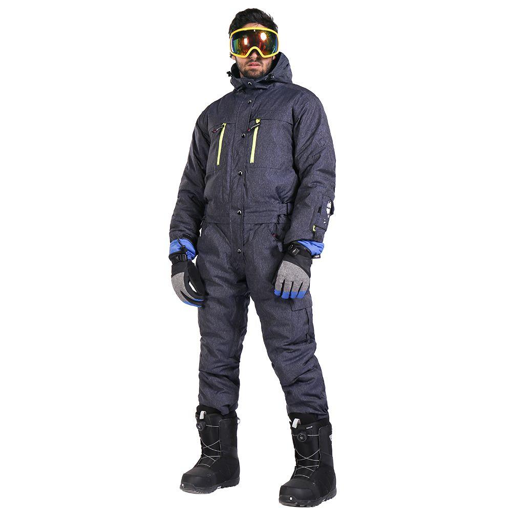 Saenshing Ein Stück Ski Anzug Männer Snowboard Overall Männer der Ski-Set Wasserdicht Winddicht Verdicken Warme Ski Jacke + Schnee hosen