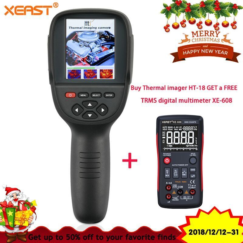 2018 New Realeased HT-18 Handheld Infrared Temperature Heat IR Digital Thermal Imager Detector Camera with storage 220x160 Resol