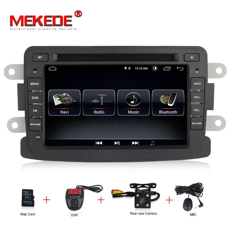 Android 8.0 Capacitive screen GPS Navigator Radio For RENAULT DUSTER Dacia Logan Sandero Xray 2 Car DVD Central Cassette Player