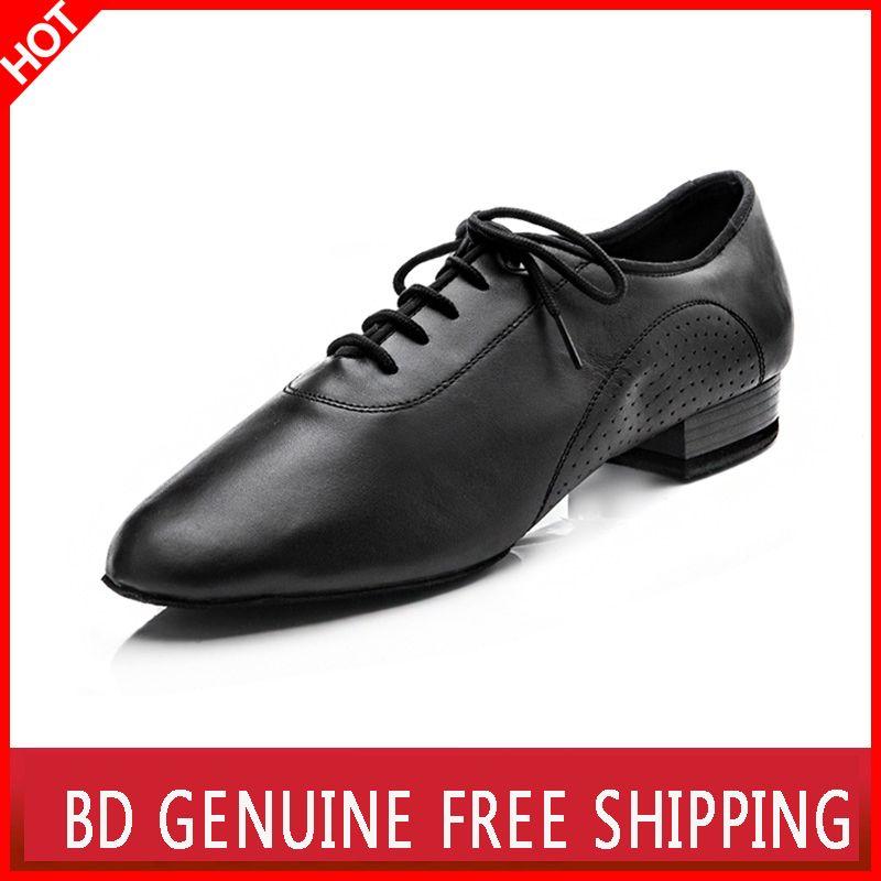 Большая Акция BD танцевальная обувь для мужчин Пояса из натуральной кожи квадратный Танцы социальных Танцы Костюмы для бальных танцев Костю...