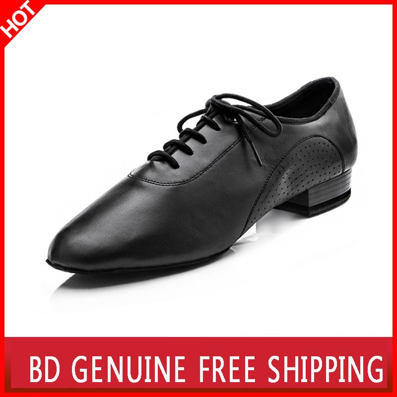 Big promotion BD dance shoes for men Genuine Leather square dance Social dance Ballroom Latin dance shoes 309 Modern shoes Hot