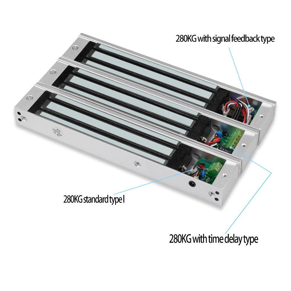 Electromagnetic electric magnetic door lock 60KG/180KG/280KG electronic lock 12V Waterproof/Signal feedback/Time Delay/embedded