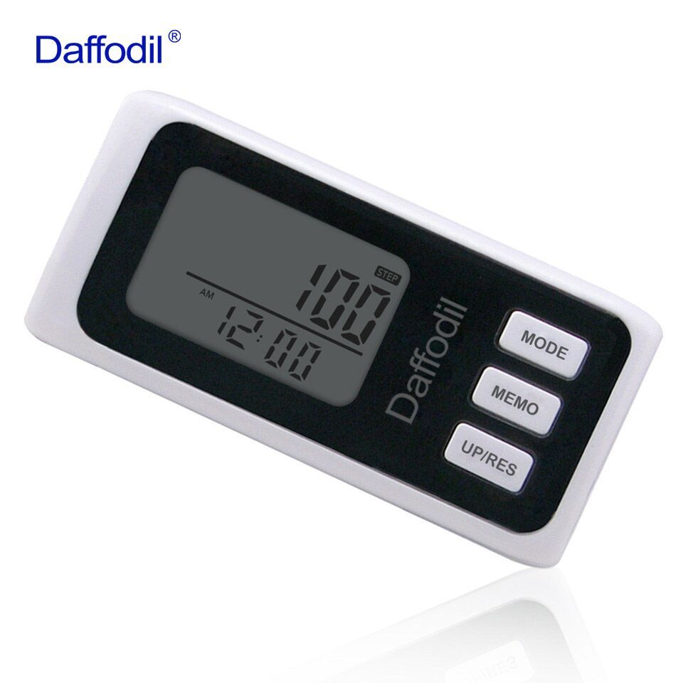 Daffodil 3D Walking Pedometer Accurate Step Counter with 7 day Memory Function, Calorie Counter and Daily Progress Monitor
