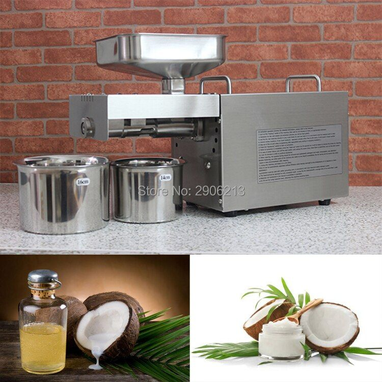 Edelstahl automatische hause kokosöl pressmaschine für kokosöl, kalte kokosöl-presse-maschine