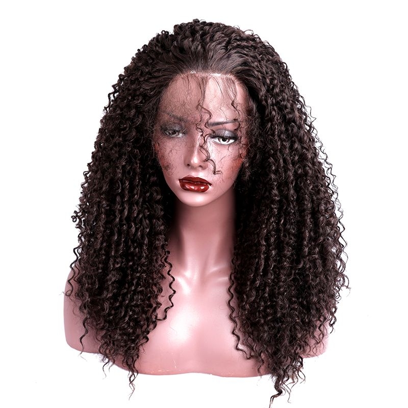 Lace Front Wigs Synthetic With Baby Hair Hand Tied Heat Resistant Natural Kinky Curly Afro Wigs For Women