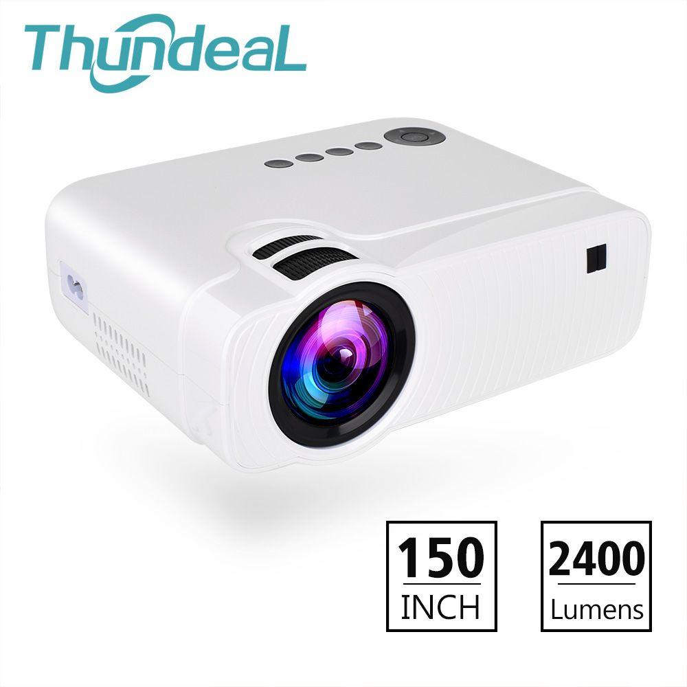 ThundeaL TD30 Projektor 2400 Lumen Mini LED HD Video Tragbare Proyector HDMI VGA Unterstützung 1080 p Spiel Party Film LCD 3D Projektor