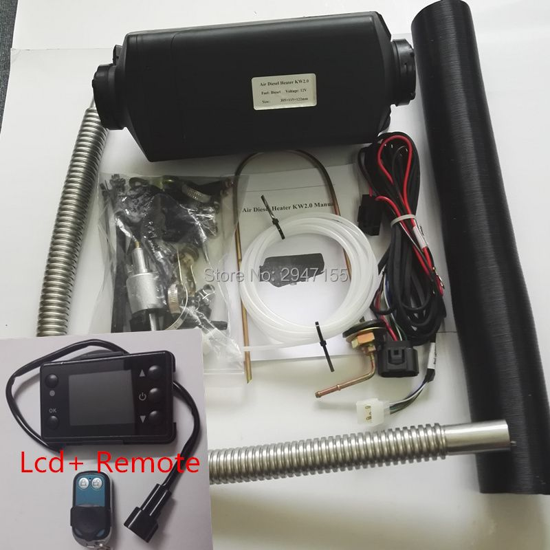 (Free shipping)-2 KW 12V webasto heater for Truck Boat Van RV bus- To replace Eberspacher airtronic D2, Webasto air top 2000