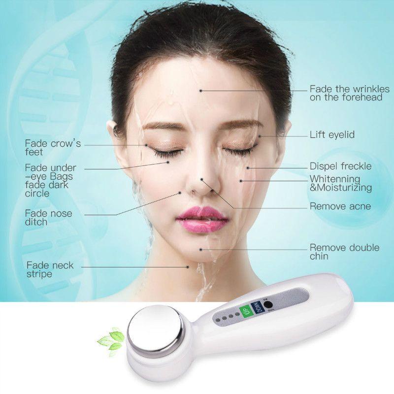 Vibration ultrasonique nettoyage en profondeur du visage Instrument de beauté lifting de la peau resserrement Anti-âge rides dispositif de soins de la peau 4546