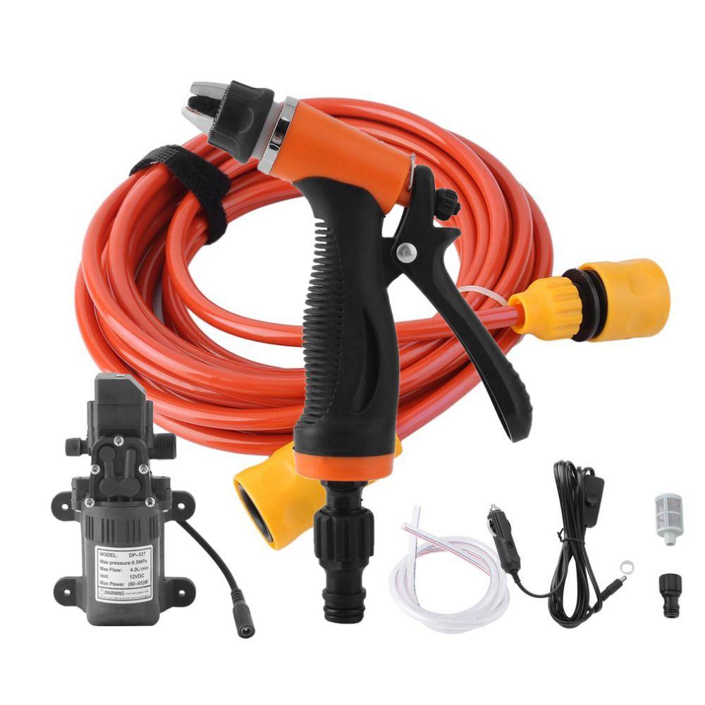 High Pressure Household 0.5Mpa 4L/min Electric Car Wash Washer Self-priming Water Pump 12V Car Washing Machine Drop Shipping