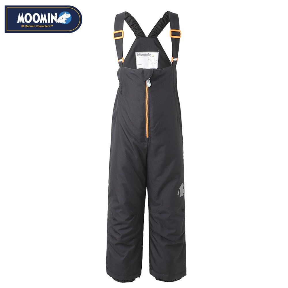 Moomin Winter zipper pants 2017 New Polyester Solid Boys Straight Zipper Fly Woven Winter pants waterproof overalls for kids