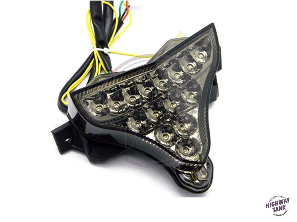 Smoke Motorcycle LED Turn Signals Brake Tail Light For Yamaha YZF1000 R1 2009-2014