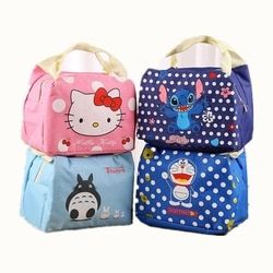Fashion Portable Cartoon Cute Insulated lunch Bag Thermal Women Food Picnic Lunch Bags for School Students Tote Bags