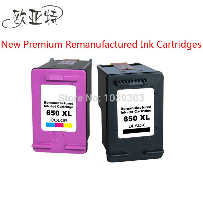 2PK Wholesale Price For HP 650XL Remanufactured Ink cartridge Compatible for HP Deskjet 1015 1515 2515 2545 2645 3515 4645