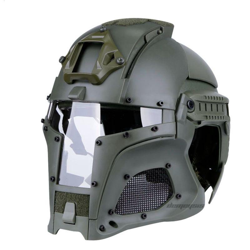 Outdoor Airsoft Helm Airsoft Sport Taktische Sicherheit Motorrad Helm Taktische Helm Full Face Taktische Maske