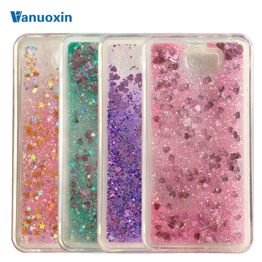 Soft phone cases sFor Fundas Huawei Y5II Y5 2 case Huawei Y6 II Compact case For Honor 5A LYO-L21 Liquid Glitter TPU case cover