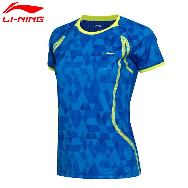 Li-Ning Women AT DRY Badminton Shirts Breathable Light T-Shirts Quick Dry Polyester Sports Tee AAYM002 WTS1335