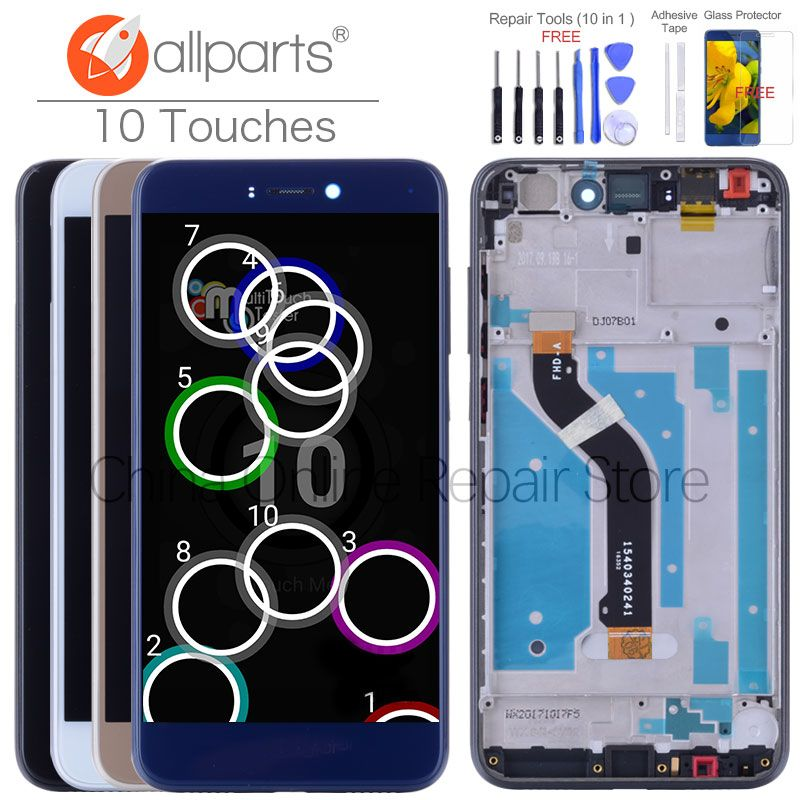 Display For HUAWEI Honor 8 <font><b>Lite</b></font> LCD Display Touch Screen for Huawei Honor 8 <font><b>Lite</b></font> Display LCD Digitizer with frame