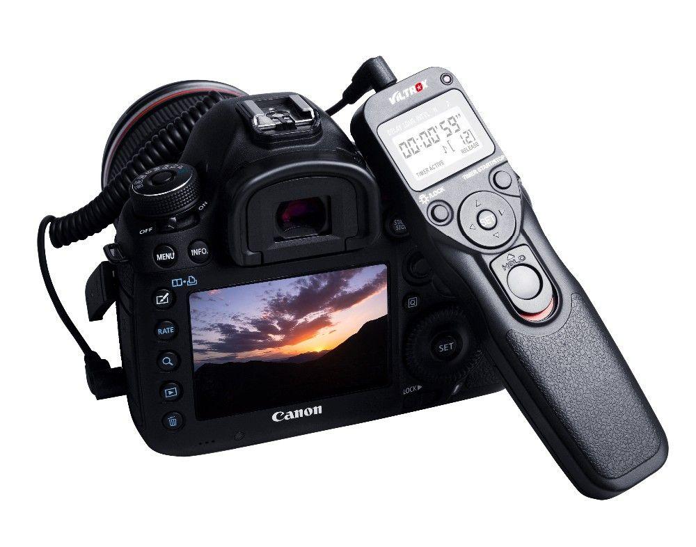 VILTROX minuterie télécommande obturateur Time Lapse intervalomètre avec câble C1 utilisé pour Canon 80D 70D 60D 760D 750D 600D 650D G1X
