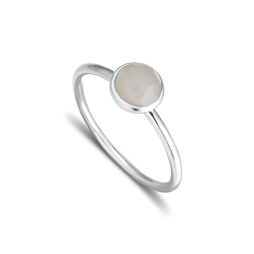 CKK 925 argent Sterling juin gouttelette, gris pierre de lune anneaux pour les femmes bijoux de Style européen Original
