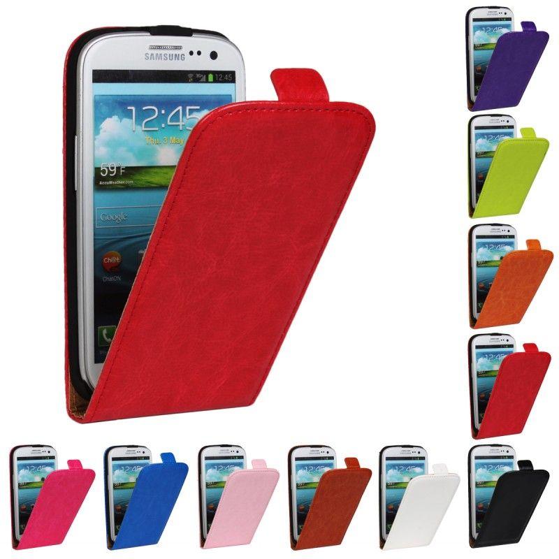 Cas pour Samsung Galaxy S3 Neo i9300 S4 S5 Mini Xcover 2 S7710 S7562 S7560 Note 3 4 S6 Bord Couverture De Cas De Secousse Portefeuille En Cuir Coque