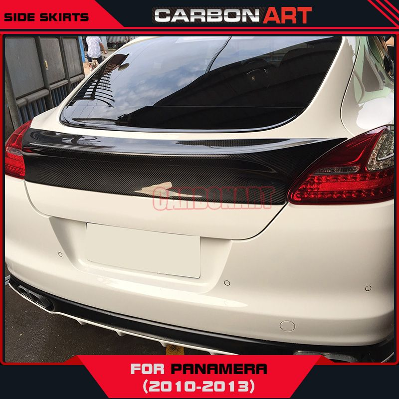 [11.11] Spoiler For Porsche Panamera 970 Carbon Fiber Rear Trunk Wing Pre-Facelift Decorations Car Restyling Racing Bootlid