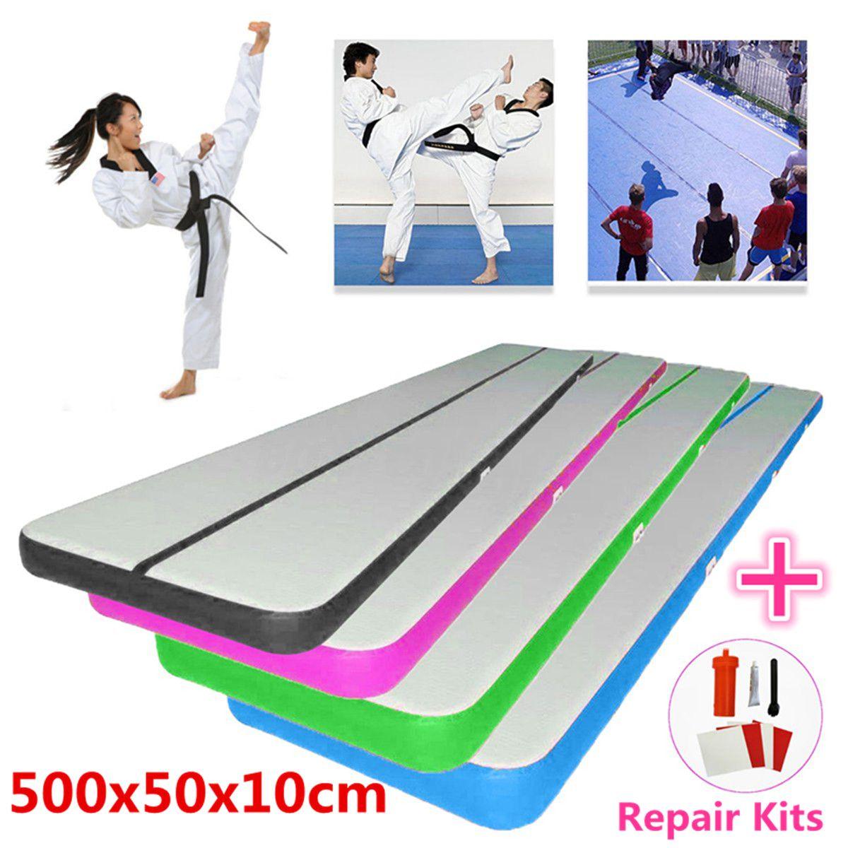 500x50x10 cm Airtrack Air Track Boden Hause Aufblasbare Gymnastik Taumeln Matte GYM Aufblasbare Balance Ausrüstung Übung