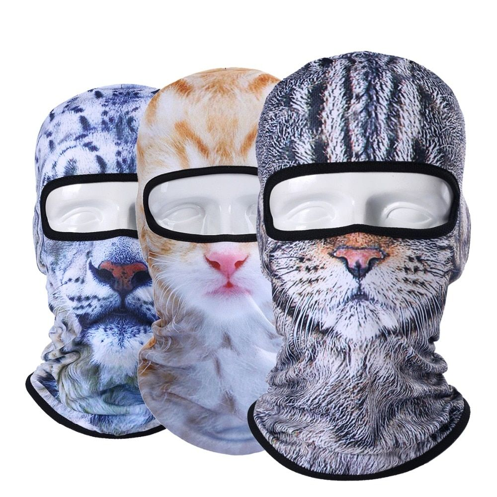 3D Cat Dog Animal Balaclava Bicycle Bike Snowboard Party Skullies Beanie Helmet Liner Winter Hat Warmer Full Face Mask Women Men