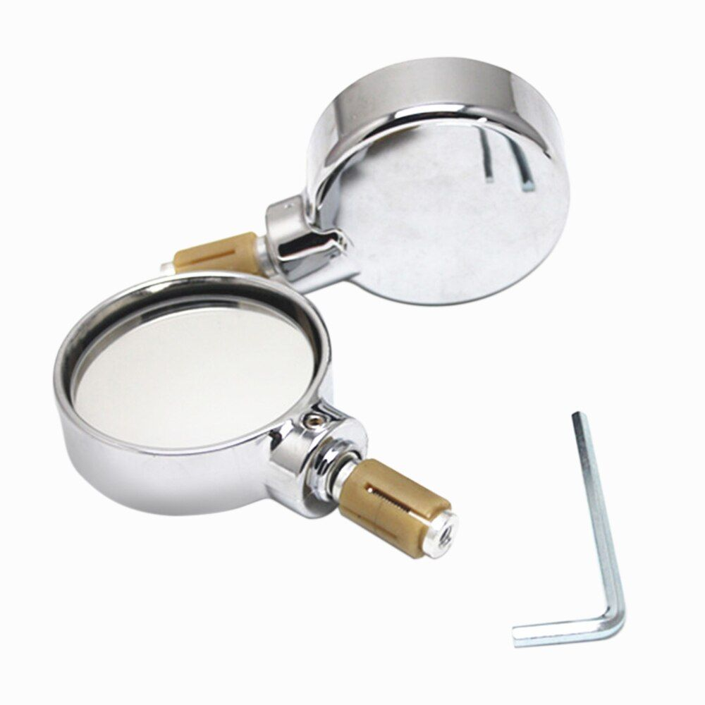 1 Pair Motorcycle Scooter Rearview Side Mirror Modified for 22mm Exterior Diameter 19mm Inner Handlebar Street Cars Scooters