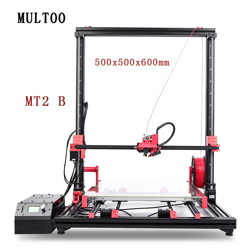 MULTOO MT2 Printer Large Printing Size High Quality Precision 500*500*600 Full Metal Single Dual 3D Printer Precise Ball screw