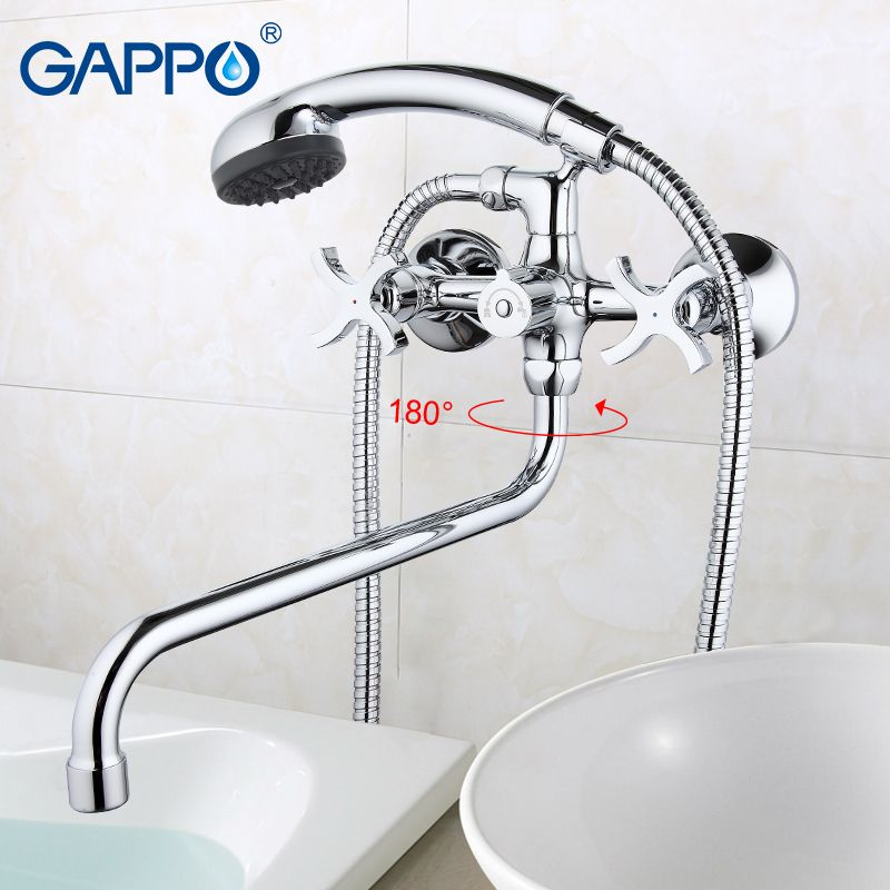 GAPPO Bathtub Faucet bathroom shower faucet bronze banheiro wall tap Brass bathtub sink mixer water mixer hand shower GA2243