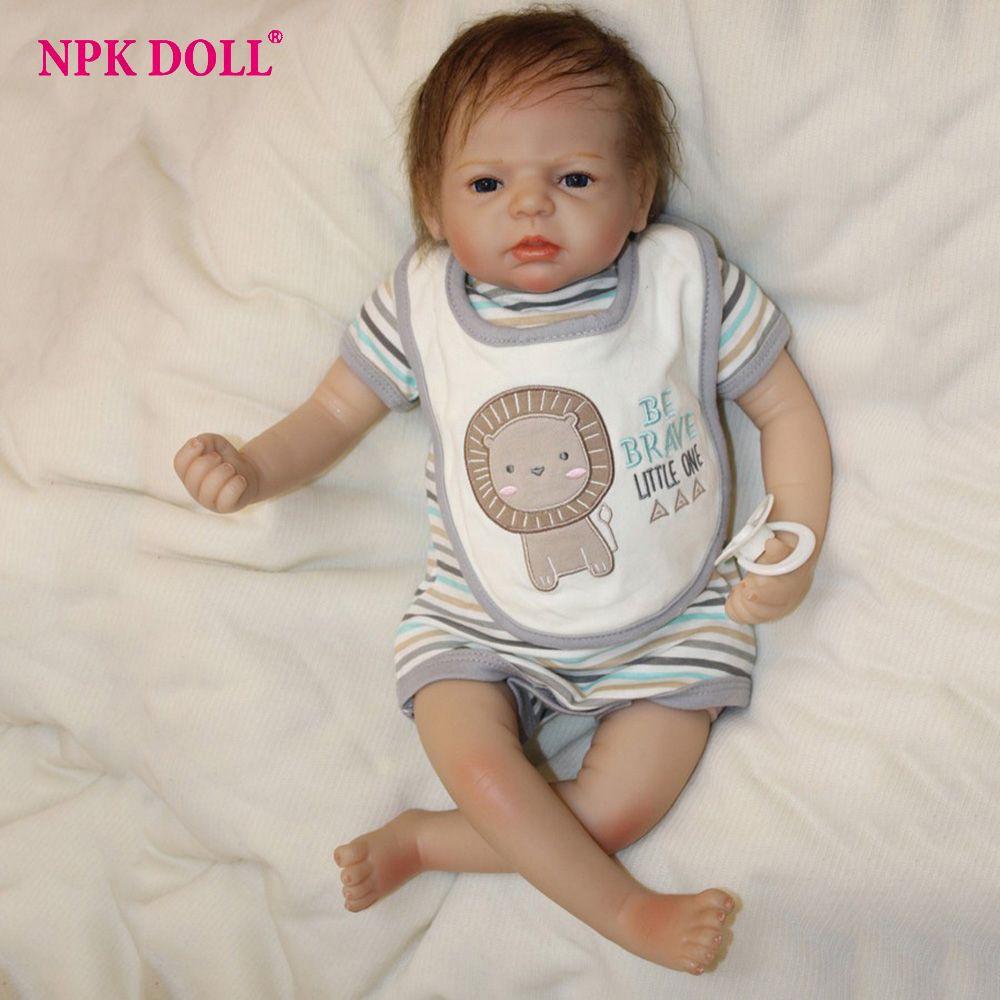 20 inches Boneca Bebe Reborn Toddler Doll Silicone Vinly Alive Boy Baby Dolls Children Birthday Gift Brinquedos