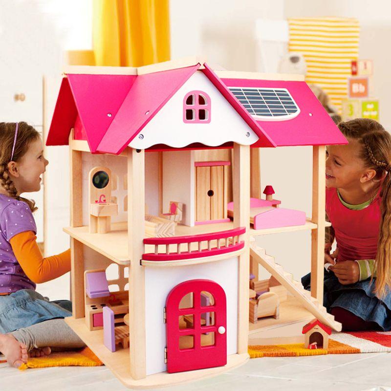 CUTEBEE Jouer à Faire Semblant Meubles Jouets En Bois Dollhouse Meubles Miniature Jouet Ensemble Maison de Poupée Jouets pour les Enfants Enfants Jouet