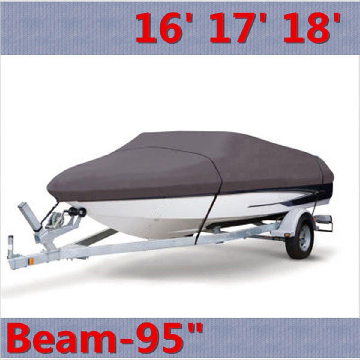 17 18 19 inch Boat Cover Beam-95 Heavy Duty Trailerable 210D V-Hull 550cm x 320cm