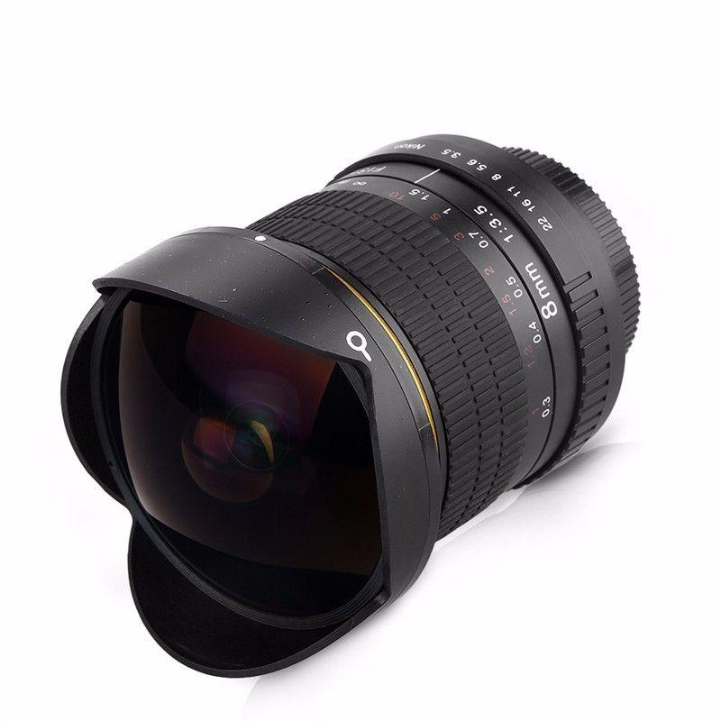 Objectif Fisheye Ultra grand Angle 8mm F/3.5 pour APS-C/plein cadre Canon EOS 1200D 760D 750D 700D 70D 60D 7D 6D 5D2 5D3 appareil photo reflex numérique