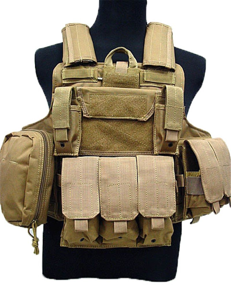Molle CIRAS Tactical Vest Airsoft Paintball Combat Vest W/Magazine Pouch Utility Bag Releasable Armor Plate Carrier Strike Vests