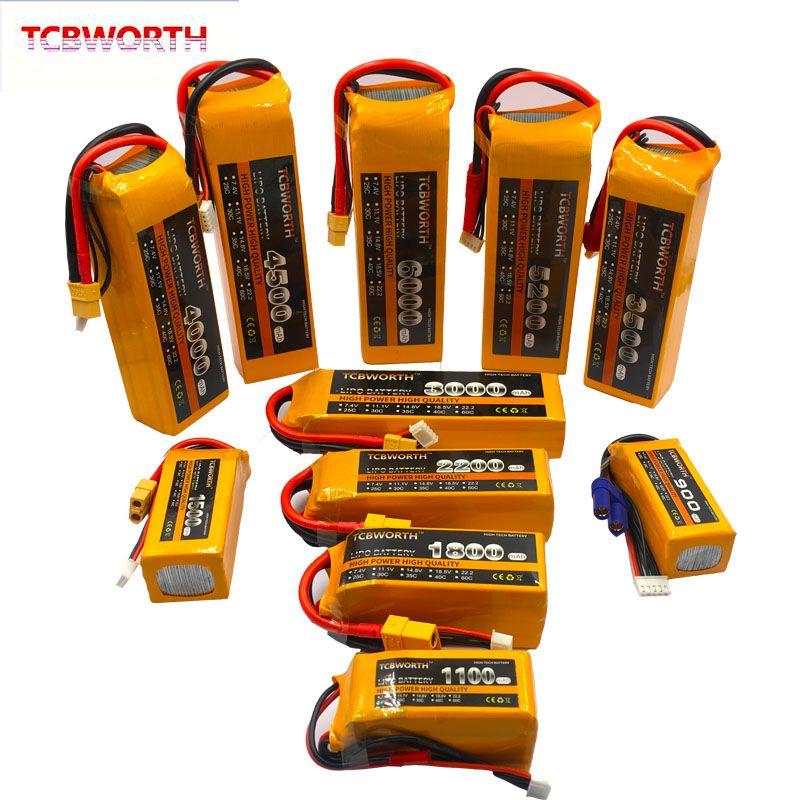 3 S RC LiPo batterie 3 S 11.1 V 1100 mAh 1300 mAh 1500 mAh 1800 mAh 2200 mAh 2600 mAh 25C 35C 60C pour RC avion Drone bateau 11.1 V LiPo 3 S