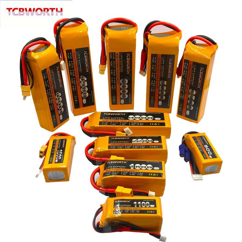 3S RC LiPo battery 3S 11.1V 1100mAh 1300mAh 1500mAh 1800mAh 2200mAh 2600mAh 25C 35C 60C For RC Airplane Drone Boat 11.1V LiPo 3S