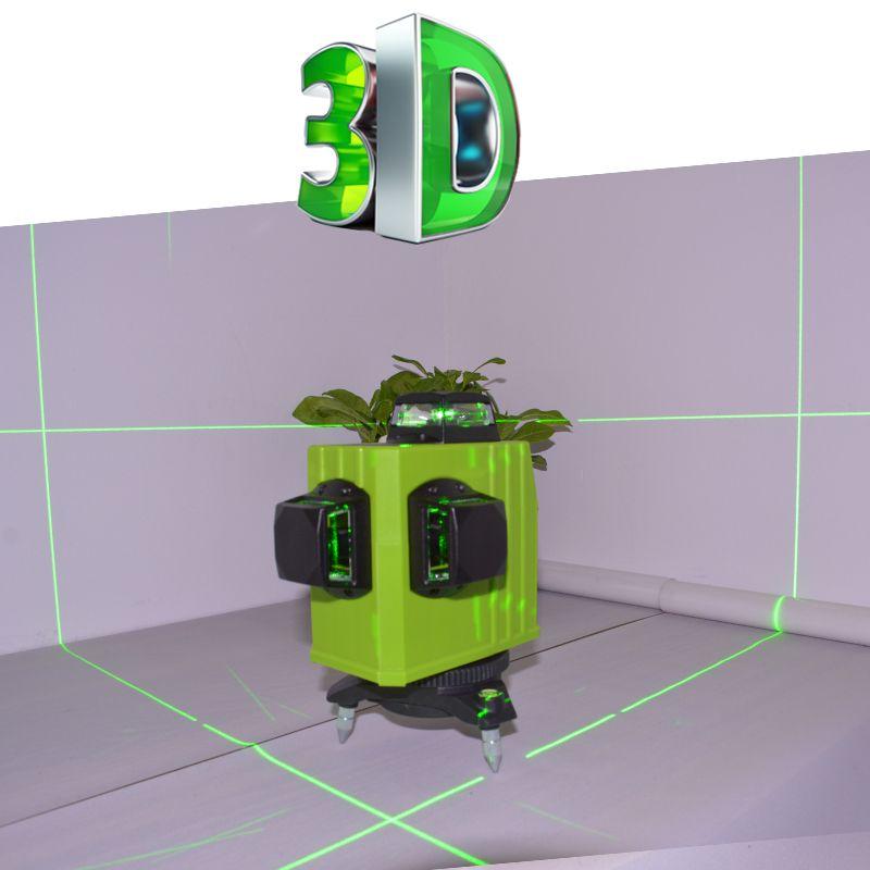 Green Laser Level Meter 12 Linhas Verde 360 Degree Vertical Lines Super Powerful Cross With Oblique Line