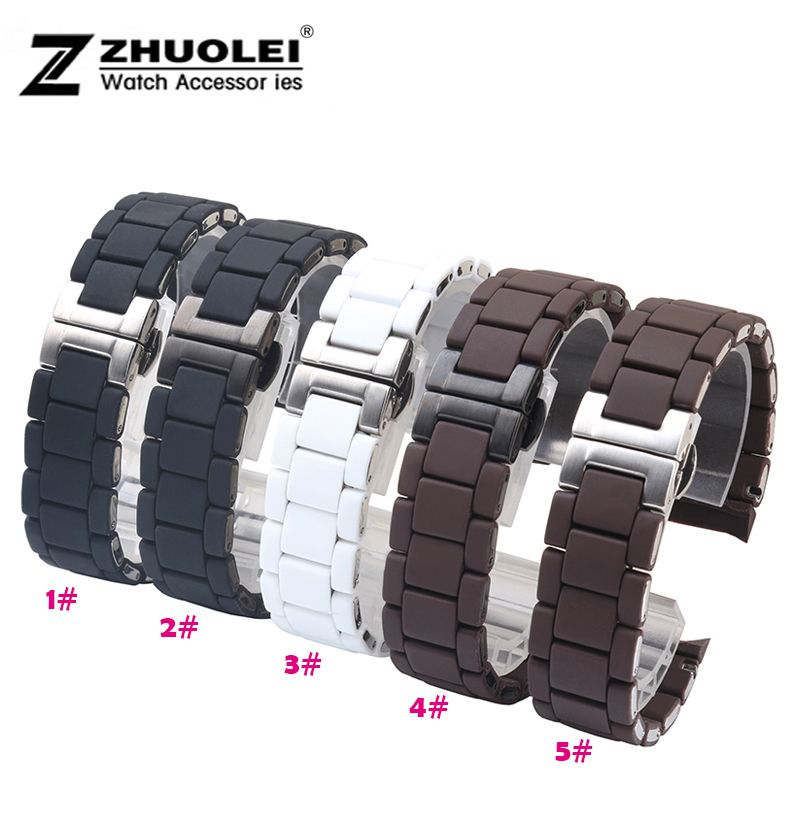 Watch band 23mm NEW Black Silicone Rubber Diver Watch Strap Band For Brand AR5867 AR5859 5954 5858