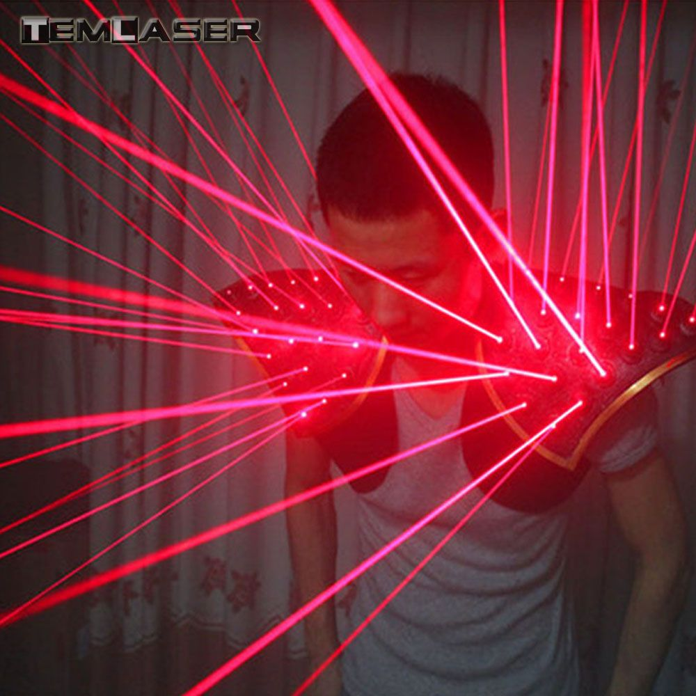 Red Laser Suit, LED Vest, Luminous Waistcoat Laser Gloves Glasses For Laser Show Fluorescent parties, Bars, Nightclubs Costumes