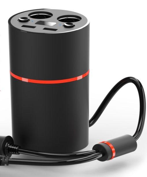 Creative model Car energy cup Smart cigarette cup Dual USB Car charger(no display)