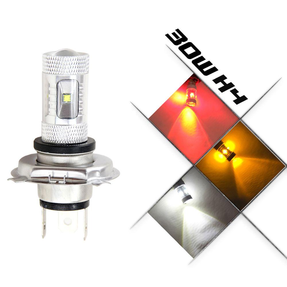 H4 30 Вт CREE led-чипов автомобили туман лампочка авто лампы 12 В 24 В сигнала Хвост автостоянка источник света светодиодные лампы автомобиля 9003 HB2 H4...