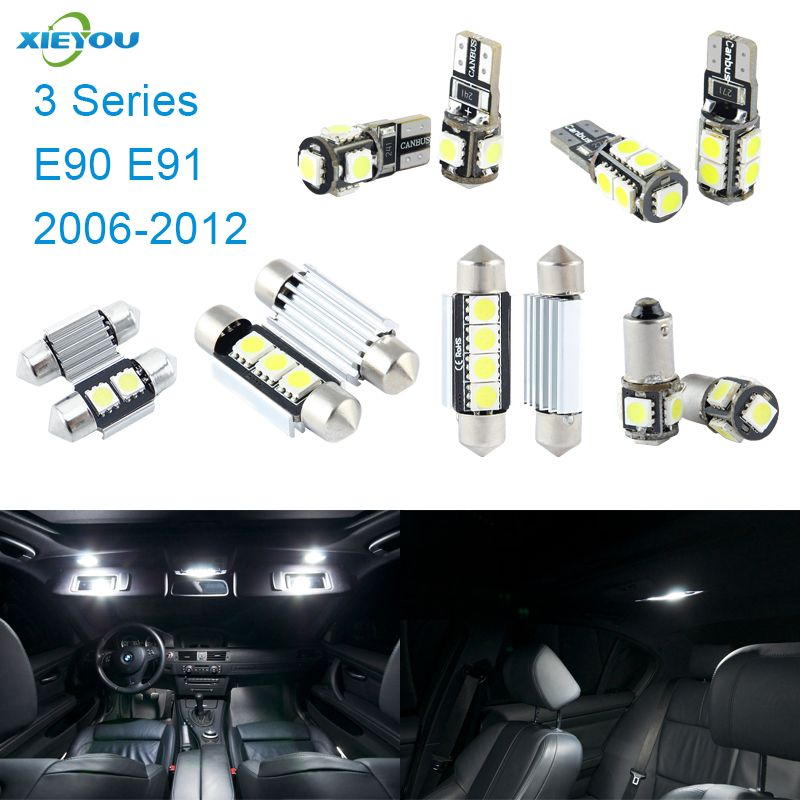 XIEYOU 14pcs LED Canbus Interior Lights Kit Package For BMW 3 Series E90 E91 (2006-2012)